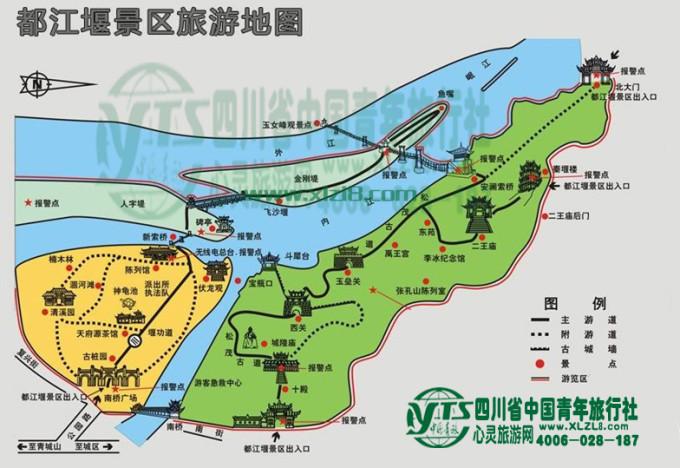 上海城隍庙手绘路线图