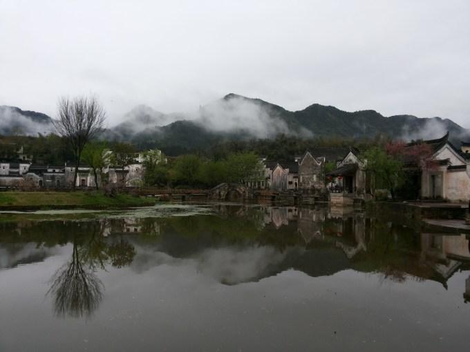 古代雨天风景