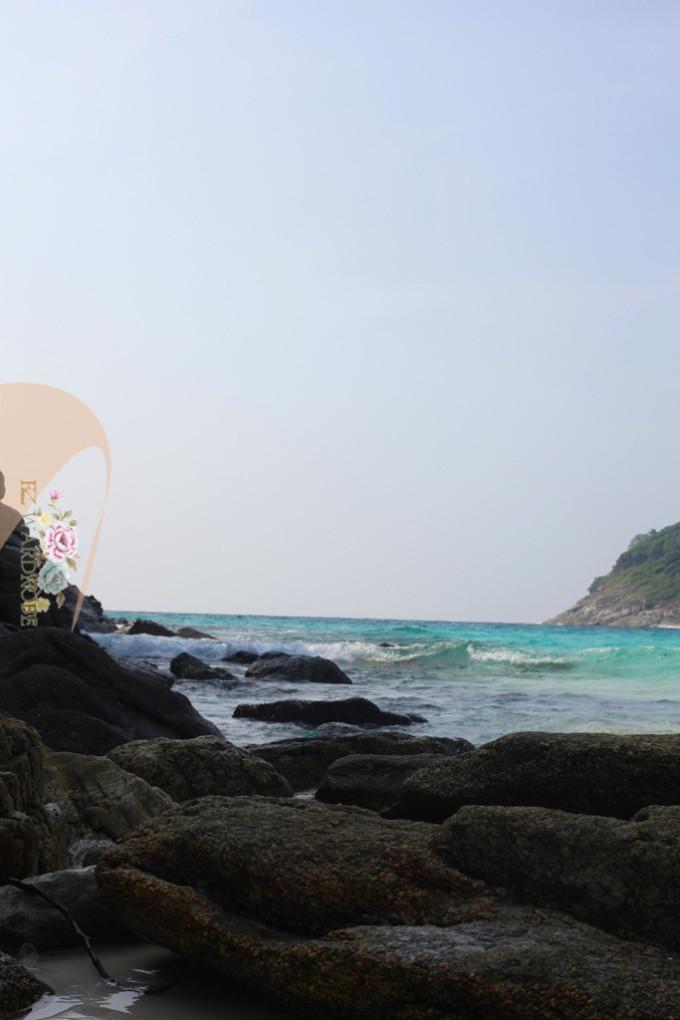 大海沙滩人群背景素材