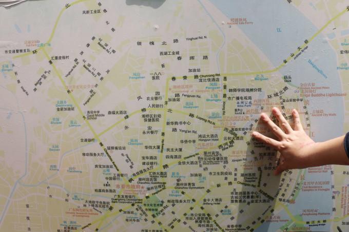 潮州手绘旅游地图