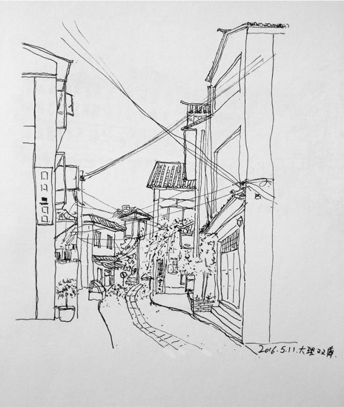 大理古城 小巷手绘