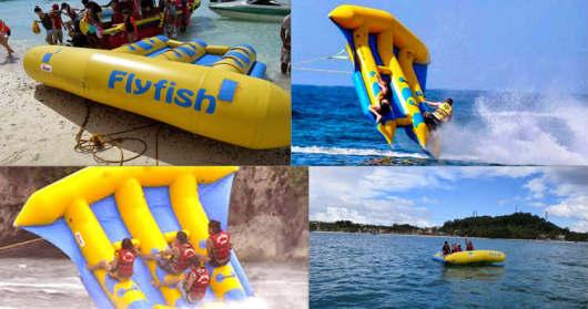 巴厘岛南湾丰富水上项目(拖戈伞 香蕉船 水上摩托 浮潜 飞鱼 海底漫步
